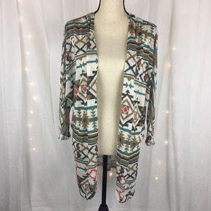 Eyeshadow Lightweight Cardigan Size Large
